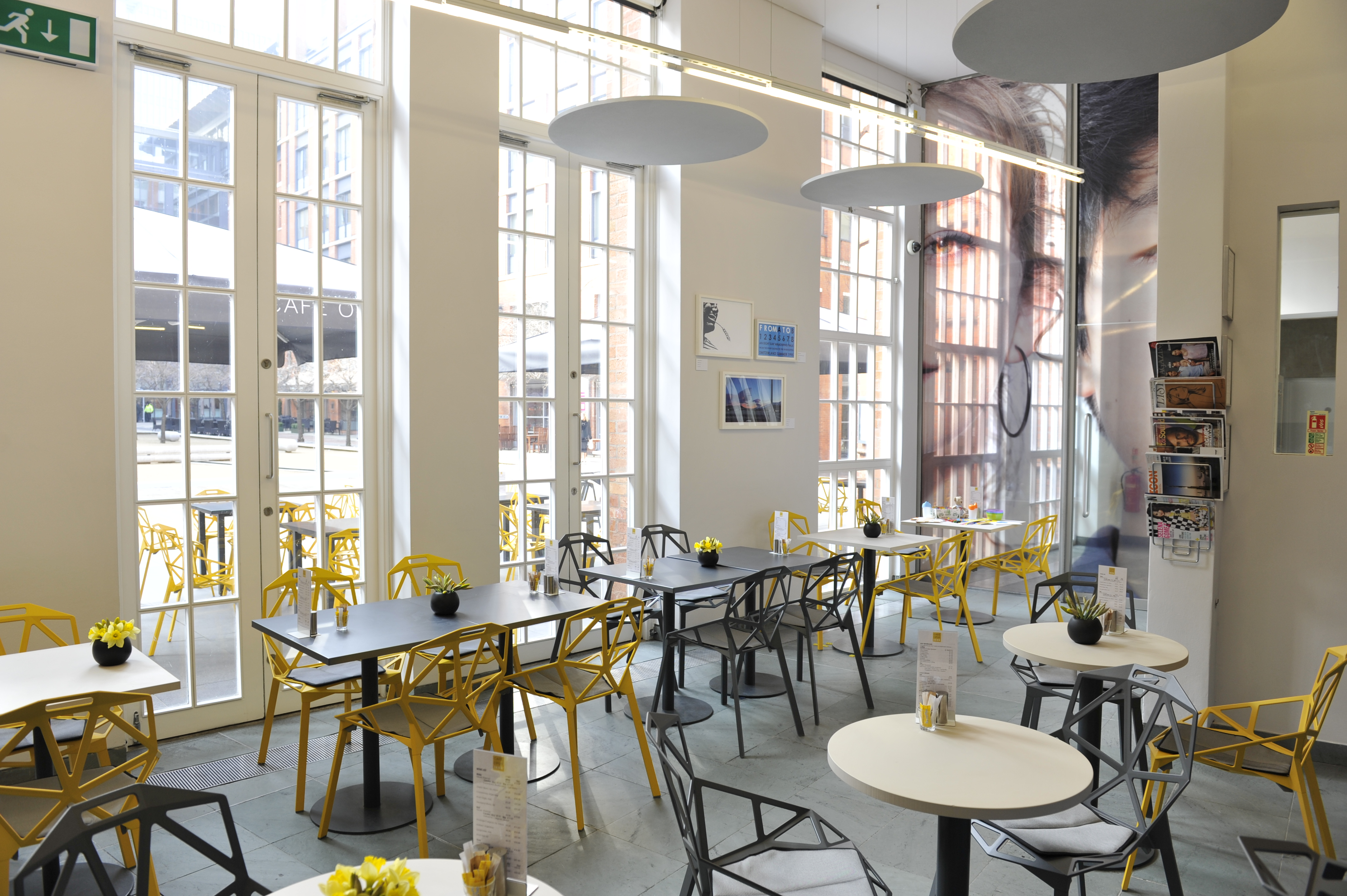The now Cafe Opus at the Ikon Gallery in Birmingham, UK.